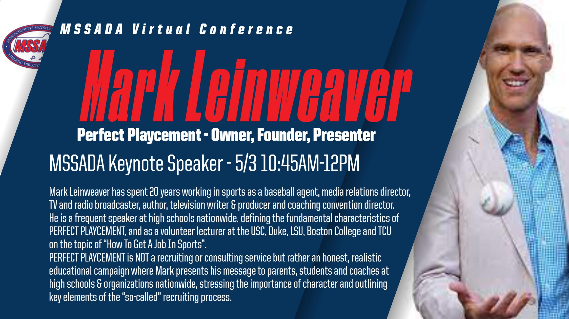 Keynote   -Mark Leinweaver PERFECT PLAYCEMENT
